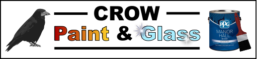 Crows Paint & Glass web logo